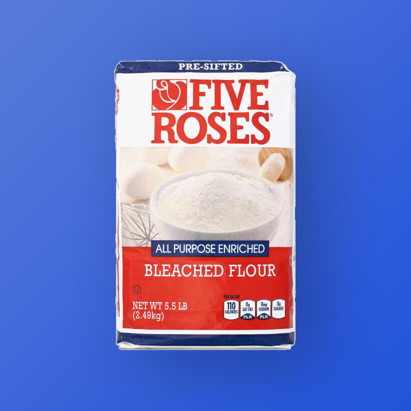 five roses bleached flour